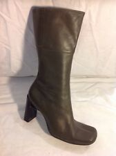 Dolcis Khaki Mid Calf Leather Boots Size 6