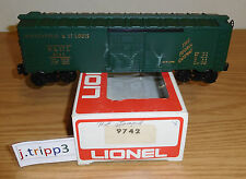 LIONEL 6-9742 MINNEAPOLIS ST LOUIS BOXCAR O GAUGE TRAIN CAR HEAT STAMPED VERSION