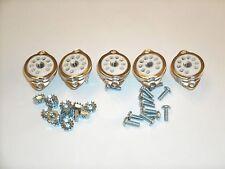 CERAMIC TUBE SOCKETS, 9 pin 12AX7 , TOP MOUNT fits Fender, w/mount hardware 5pcs
