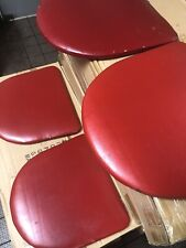 Restaurant Chair Cushion Seat Replacement for Metal Chairs, Set 4 RED VINYL