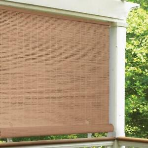 Cordless Outdoor Roll UP Sun Shade Blind Patio UV Window Protection Reduce Heat