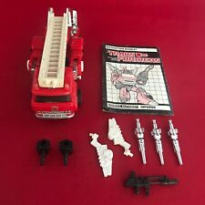 Transformers G1 Vintage 1985 - Autobot Car Inferno - Complete with Instructions