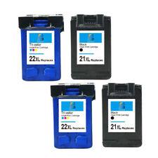 4 PK 21XL 22XL Black/Color Ink Cartridge For HP 4300 4310 J3600 Fax 1250 3180