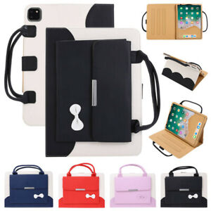 Wallet Leather Lady Handbag Stand Case Cover For Apple iPad Models 7.9 - 12.9 in