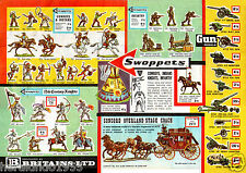 Britains Swoppets Eyes Right ACW Garage ~ Colour Facsimile of 1964 Sales Leaflet