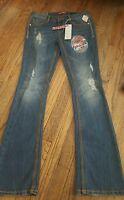 Juniors SZ 3 UnionBay Distressed Skinny Boot Cut Jeans~NEW~