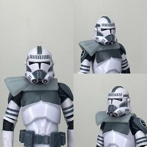 "Custom Star Wars Captain Howzer Clone Trooper Pauldron Black Series 6"" 1/12"