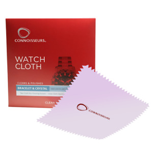 Watch Polishing Cloth Cleans & Polishes Watches Jewellery Cleaning Connoisseurs