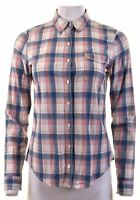 TOMMY HILFIGER Womens Shirt Size 12 Medium Multicoloured Check Cotton  CZ07