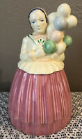 RARE Balloon Lady Cookie Jar Pottery Guild of AMERICA 1940's VINTAGE ANTIQUE