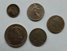 FRANCIA 25 & 50 CENTESIMI 1904 1909 5 FRANCHI 1933 e 1 Franco 1961 monete