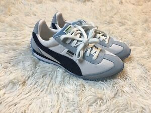 Puma SPEEDER Mesh Shoes White Peacoat Cerulean 368452 01 Mens Size 5/Womens 6.5
