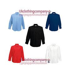 Fruit Of The Loom Men's Long Sleeve Poplin Shirt - Adult Work/Forma Shirt