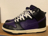 Men's Nike Dunk SB High Purple Black Sz 8 Grand 305050-500 Leather Sneaker