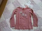 Tee shirt fille MARESE en 4 ans marron rosé noir Lucas coton NEUF étiquette
