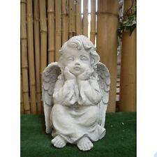 Stone Figure Angel Gelangweilt Heavenly Prayer Cherub Garden Frost Resistant