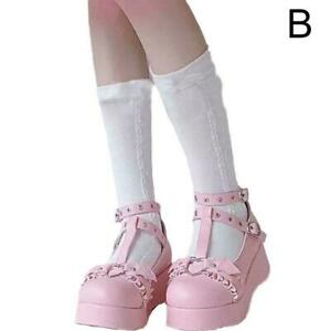 Lolita Women's Mary Janes Shoes Ankle T-Strap Wedge Platform Pumps Heels K0B5