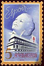 Grande Vignette timbre 5 francs  .contre la tuberculose .1939