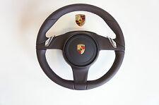 Porsche 991 981 Volante Multifuncional pdk Cuero Espresso LR42 O AIRBAG