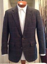 SOUTHWICK Cashmere Blend Jacket Sport Blazer Plaid Sz 38 40 R Excellent!