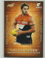 2013 AFL CHAMPIONS BF09 Callan Ward Greater Western SYDNEY Best and Fairest CARD