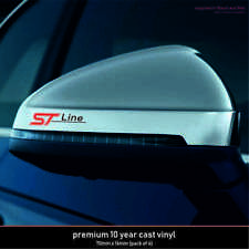 4 X FORD ST LINE PREMIUM!! PERFORMANCE 10 Year Cast Vinyl Decals Stickers