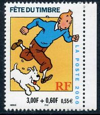 TIMBRE FRANCE NEUF N° 3304 **  FETE DU TIMBRE / TINTIN / ISSUS DE CARNET