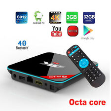 Bluetooth Q Plus QBox+ 32GB Octa-Core 1080p 4K 3D Android 7.1 WiFi Smart TV Box