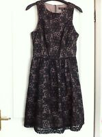 Womens Black Floral Lace Party Dress By Warehouse. Size 10.