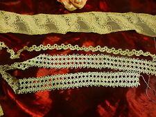 2m,15 de dentelles précieuses ,du fait main ,fil de lin