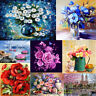 Flower Floral 5D Diamond Painting Embroidery DIY Cross Stitch Home Decor Gifts