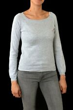Sun68 Ladies Cotton Jumper Knit Auth. Sweater Top Melange Grey Pink S SUPER