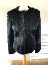 Gorgeous K Yen Rabbit Fur & Lamb Leather Coat Jacket Size M