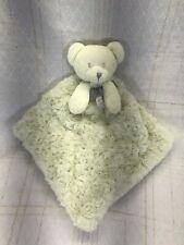 New listing Blankets & Beyond Bear Rosette Swirl Plush Security Blanket Green Gray Lovey