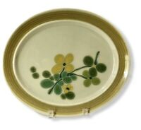 "Vintage Franciscan Pebble Beach Earthenware 14"" Oval Serving Platter Floral MCM"