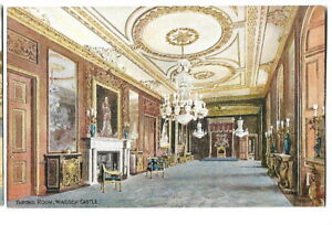 Artist Drawn Postcard J Salmon C T Howard 3622 Throne Room Windsor Castle
