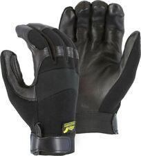 UNLINED POLICE-MILITARY TACTICAL-Mechanics Deerskin Leather Gloves-Black-MEDIUM