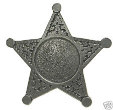 CUSTOM 5 POINT STAR OLD WEST POLICE BADGE CUSTOM INSERT OBSOLETE Made in USA 30