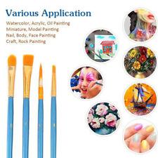 10X Artist Paint Brushes Set Watercolour Acrylic Oil Painting Face Paint Craft T