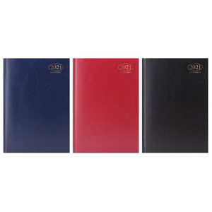 A4/A5 WEEK TO VIEW & Day to a Page 2021 Desk Diary Appointment Hard Back Office