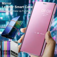 Miroir étui en cuir Smart Cover Pour Samsung A51 A71 A41 A21 A50 A20 Flip coque