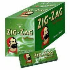 50 Feuille Cigarette ZigZag Vert 70mm x 100 Carnet