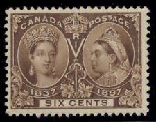 CANADA #55 6¢ Jubilee, og, NH, VF, Miller certificate, Scott $575.00