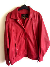 womens lakeland  Leather red vintage biker  bomber  Jacket in size 10