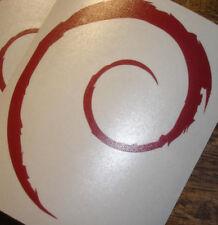 Debian Swirl Sticker - Large - Linux GNU OS Opensource PC Laptop Phone