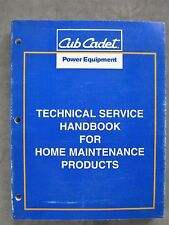 Cub Cadet Lawn Tractor Riding Mower tiller Snow Blower Technical Service Manual