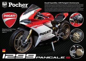 "Pocher 1/4 scale Ducati Panigale 1299 S ""Anniversario"" metal kit HK110 low stock"