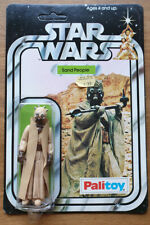 RARE VINTAGE STAR WARS 12 A BACK PALITOY SAND PEOPLE TUSKEN CUT BUBBLE MOC