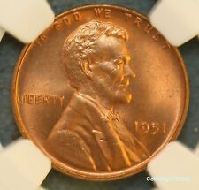 1951 1C NCC 66 RD Lustrous Gem Lincoln Cent Offered @ Wholesale
