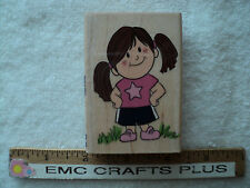 Amber In Her Star T-Shirt W/M Rubber Stamp~ Gr1161 ~ Girl